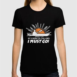 Kayak Gift Hobby Whitewater Saying Adventure T-shirt