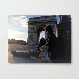 "Man N Bear ""Arc De Triomphe"" Metal Print"