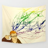 creativity Wall Tapestries featuring Forced Creativity by TheMaru