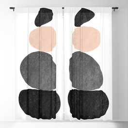 Zen Balance, Abstract Art Blackout Curtain