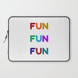 fun fun fun colorful design Laptop Sleeve