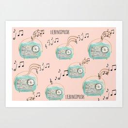 favorite Music Art Print