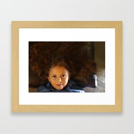 Beautiful girl Framed Art Print