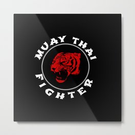 Muay Thai Fighter Metal Print