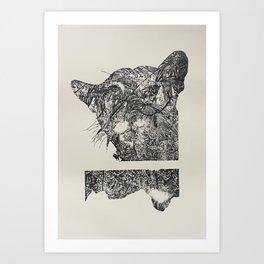 black&white Art Print