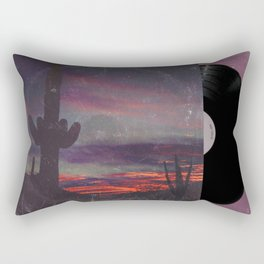 Darkness In The Desert - America As Vintage Album Art Rectangular Pillow
