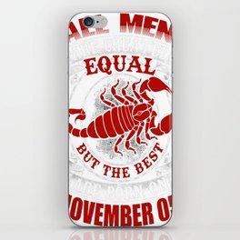Best-Men-Are-Born-on-November-05---Scorpio---Sao-chép iPhone Skin