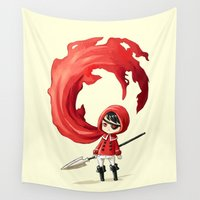 rogue Wall Tapestries featuring Red Cape by Freeminds