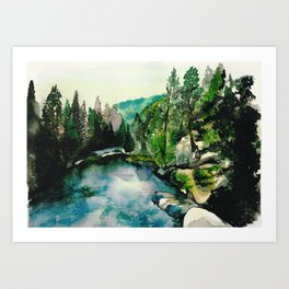 Merced River Art Print