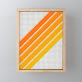Orange Color Drift Framed Mini Art Print