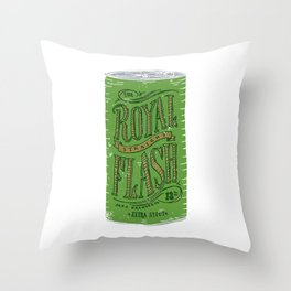 Royal Straight Flash Throw Pillow