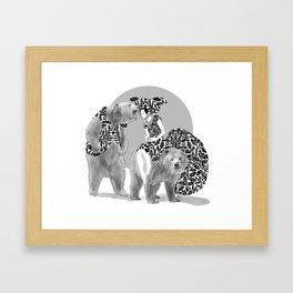 Bear Necessities #1 Bearly Secret Framed Art Print
