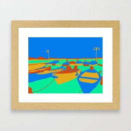 Boats at Lake Garda Framed Art Print
