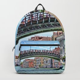 Ponte dell' Accademia Bridge In Venice, Italy Backpack
