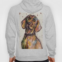 Hungarian Vizsla Dog Closeup Hoody