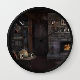 A Character - Decade Self Portraits in Gothic Scene Wall Clock