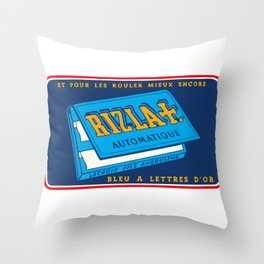 RIZLA rolling papers Throw Pillow