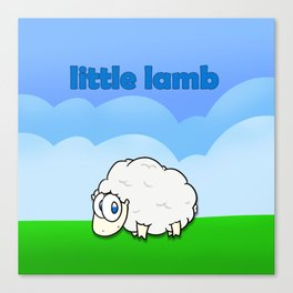 Little lamb Canvas Print