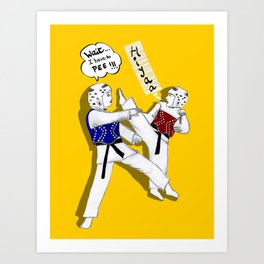 Taekwondo Art Print