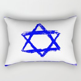 flag of israel 9-יִשְׂרָאֵל ,israeli,Herzl,Jerusalem,Hebrew,Judaism,jew,David,Salomon. Rectangular Pillow