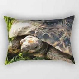Wild Tortoise In Grass Meadow Rectangular Pillow