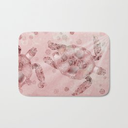 Glamour Turtle Rose Gold Bath Mat