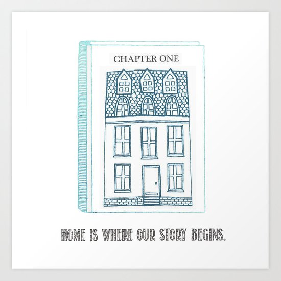 Home.... Art Print
