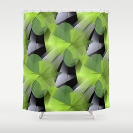 3D abstraction -05a- Shower Curtain