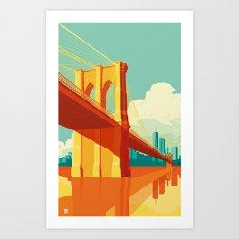 Brooklyn Bridge NYC Art Print