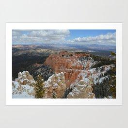 Snow in Bryce Canyon Utah Art Print