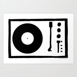 'Record Player' Art Print