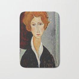 "Amedeo Modigliani ""Portrait of a Woman"" Bath Mat"