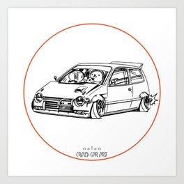 Crazy Car Art 0211 Art Print