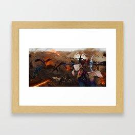 War in Heavens Framed Art Print