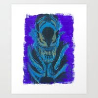 xenomorph Art Prints featuring Alien Xenomorph  by Dukesman