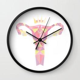 Royal Uterus Pattern Wall Clock