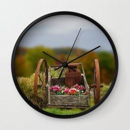 Flower Cart Wall Clock
