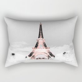 pariS Black & White + Pink Rectangular Pillow