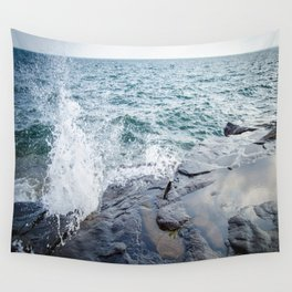 Rough waters- color  Wall Tapestry