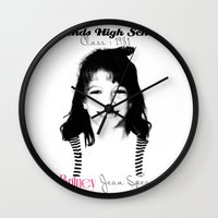 britney spears Wall Clocks featuring Britney Spears Baby Legend by franziskooo