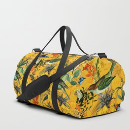 Vintage & Shabby Chic - Yellow Tropical Bird Garden Duffle Bag