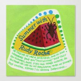 Watermelon Waterbug: Wondering Canvas Print