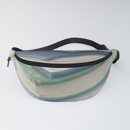 Pile of books - blue Fanny Pack