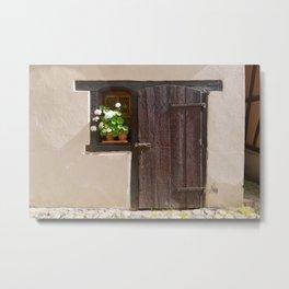 Old Wooden Door and Window Metal Print