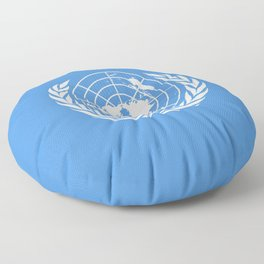 Flag on United nations -Un,World,peace,Unesco,Unicef,human rights,sky,blue,pacific,people,state,onu Floor Pillow