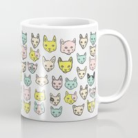 kittens Mugs featuring Kittens by Elisa MacDougall