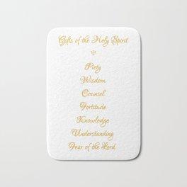 Gifts of The Holy Spirit in a 3-D Look Golden Script Bath Mat