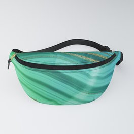 Ocean Blue And Green Mermaid Glamour Marble Fanny Pack
