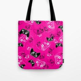 Video Game Pink Tote Bag