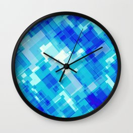 Digital Blue Pool Wall Clock